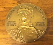 Rare Charles De Gaulle Bronze Memorial Medal, No. 321, 1990