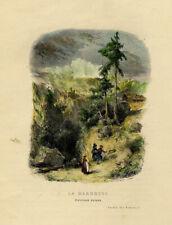 La Marmotte Paysage Suisse Paris Jardin des Plantes Gravure XIXème