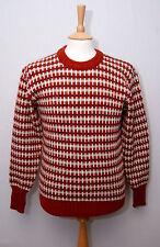 "Kaare Gjose Norway warm wool blend crew neck fishermans jumper jersey S 36"" 92cm"