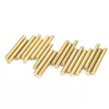 3mm Dia 20mm Length Copper Solid Round Shaft Rod Axles for DIY Toy Car 20pcs
