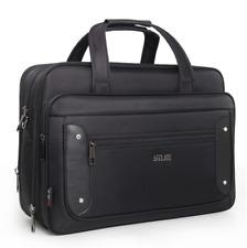 16 inch Mens Black Oxford Briefcases Bag Laptop Crossbody Briefcase Office Bag