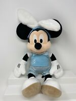 """Disney Store MICKEY MOUSE Bunny Plush Doll Easter 19"""" Toy gift Blue"""