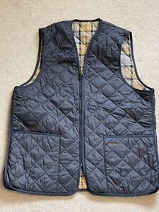 Barbour Gilet Bodywarmer Jacket UK L Men's Blue Quilted Full Zip Unused