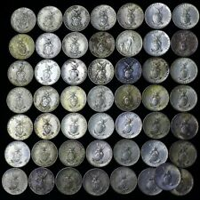 Lot of (50) 1944 - 1945 Philippines Silver Coins Ten 10 Centavos USA WWII WW2