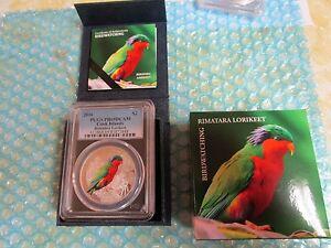 2016 $2 PCGS PR69DCAM Cook Islands Birding Rimatara Lorikeet .999 Silver Coin