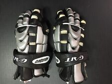 deBEER GAIT INSANITY LACROSSE GLOVES BLACK/SILVER/WHITE ADULT MEDIUM