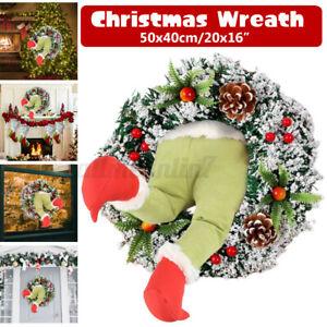 Christmas Thief Stole Christmas Burlap Wreath Santa Claus Decorations Home Decor