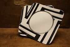 """VERSACE """"Dedalo Platinum"""" 2X Square Dinner plate 10,5"""" by Rosenthal Germany NEW!"""