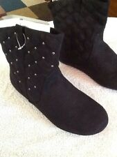 Girls Black Sonoma Quilted Ankle Boots/ Size: 5 M/ NWB