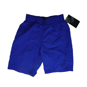 Nike Boy's Big Swoosh Volley Shorts Swim Trunks Royal Blue