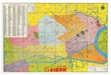HUGE Thu do SAIGON Vietnamese MAP circa 1970 - Ho Chi Minh City, Vietnam - 24x36