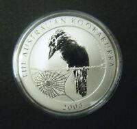 2008 Australian Kookaburra $1 1 oz Silver Bullion Coin .999 Fine Dollar round