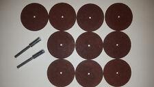 DREMEL 540 10x Trennscheibe 32mm + 2x Aufspanndorn 402 Neu unbenutzt Sonderpreis