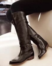 NEW FRYE womens Dorado brown Distressed Leather TALL Riding BOOTS 77561 7.5 $458