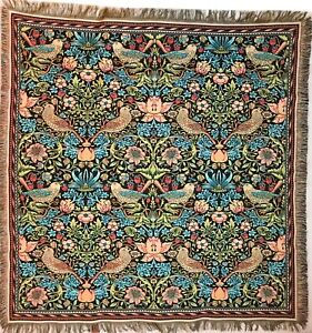"""WILLIAM MORRIS STRAWBERRY THIEF 60"""" BELGIAN TAPESTRY TABLE CHAIR BED THROW 7180"""