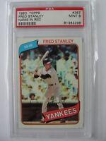 1980 Topps New York Yankees #387 FRED STANLEY PSA 9 Mint Baseball Card
