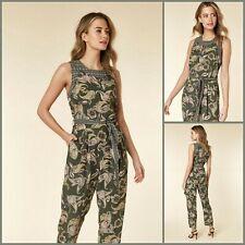 Wallis Petite Khaki Jumpsuit 12 | Paisley Print | BNWT | £45 RRP | Brand New!