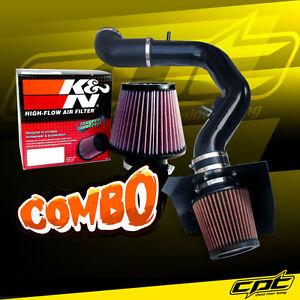 For 04-08 Ford F150 5.4L V8 Black Cold Air Intake + K&N Air Filter