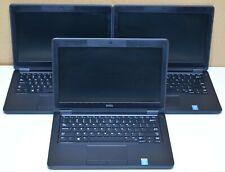 "New listing Lot of 3 Dell Latitude E5250 Intel Core i5-5300U 2.30Ghz 4/8Gb Ram 12.5"" Laptops"
