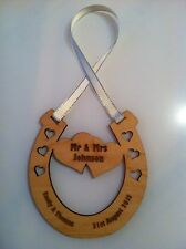 Personalised Horseshoe - Wooden Wedding Laser Cut Craft Shapes