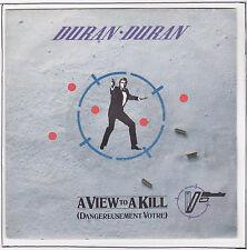 """DURAN DURAN 45T 7"""" A VIEW TO A KILL R. MOORE J BOND 007"""
