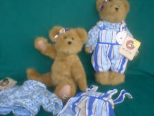 Boyds Bear Longaberger Hannah Cabana Blue Stripe New Fashion Family Collection