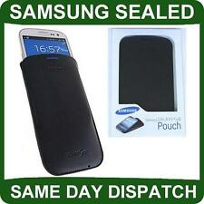 Genuine Samsung i9300 Galaxy SIII Blue PU Leather Pouch Case Cover original s3 s