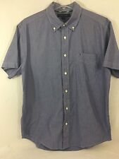 TOMMY HILFIGER PINSTRIPED SHORT SLEEVE CLASSIC BUTTON FRONT SHIRT SIZE LARGE