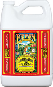 Foxfarm FX14003 Big Bloom Liquid Plant Food Concentrate, 1 Gallon, 0.01-0.3-0.7
