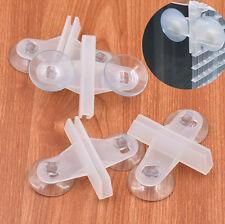 2 X PIEZA SEPARADOR de ACUARIOS division guias cristales acuario pecera TRANSP.