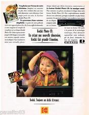 PUBLICITE ADVERTISING  105  1992   KODAK  lecteur photo CD