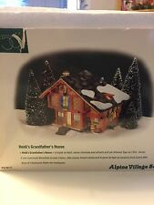 Department 56 Alpine Village Series Heidi's Grandfather's House Mint in Box