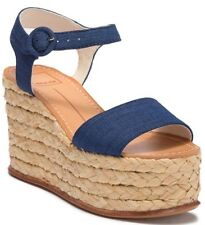 9b532884114  196 New Dolce Vita Dane Espadrille Platform Wedge Sandal Indigo Linen Size  7
