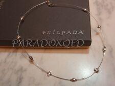 SILPADA Modernist Sterling Silver 925 Liquid Silver Nugget Necklace N1291