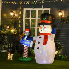 HOMCOM Christmas Inflatable Snowman Penguin North Pole Sign Outdoor Accessories
