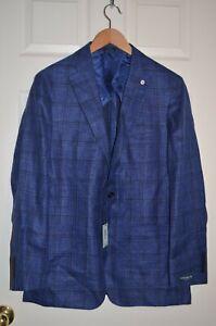 Peter Millar Collection Wool/Silk/Linen Plaid Sport Coat Blazer $998 SZ 40R NWT