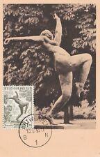 L5 - CARTE MAXIMUM - BELGIQUE - LA VIERGE FOLLE - 1955.