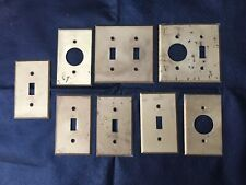 Lot Of Brass Wall Switch Plates Back Plate Vintage GE