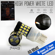 2X 7443 40W 1000LM High Power White Backup Reverse High power LED Light Bulbs
