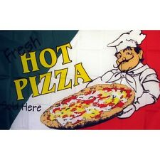 Fresh Hot Pizza Flag Banner Sign 3' x 5' Foot Polyester Grommets