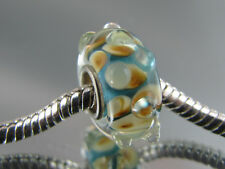 SINGLE SILVER CORE MURANO GLASS CHARM BEAD EURO STYLE CHARM BRACELETS #MB-294