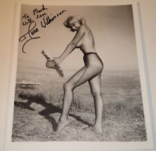 JUNE WILKINSON / 8 X 10  B&W  PIN-UP  AUTOGRAPHED  PHOTO  WOW!!