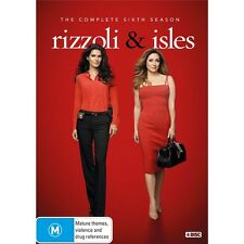 RIZZOLI & ISLES-Season 6-Region 4-New AND Sealed-TV Series-4 DVDs