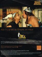 H- Publicité Advertising 2008 Orange avec Asterix et Obélix