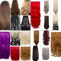 Hair Extension Weft 1 3 & 8 Piece Full Head Long Clip-in Straight Curly Various