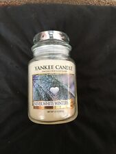 Yankee Candle Silver White Winters Large Jar. Rare And Hard To Find. Usa...