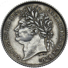 More details for 1825 sixpence - george iv british silver coin - very nice