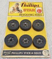 Phillips Revolving Heels Shop Display Card Counter Top Point of Sale Advertising
