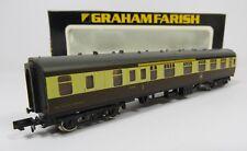 N Gauge Farish 0694 MK1 Coach BR Brown & Cream WR Corridor Brake W21023