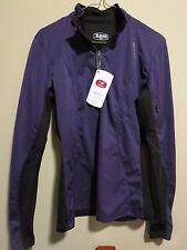 Womens New Sugoi Firewall 180 Zip Softshell Top Jacket Size Medium Amethyst
